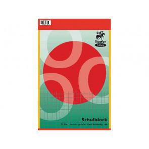 Staufen Linea Schulblock DIN A4 50 Blatt kariert Doppelrand gelocht