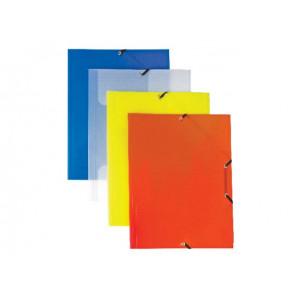 Staufen Sammelmappe PP A4 Gummi- band uni transparent-klar robustes Material