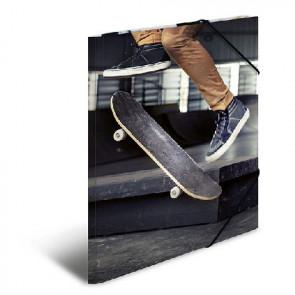 Herma Sammelmappe Skateboard DIN A4 mit Gummizug 19227
