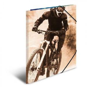 Herma Sammelmappe Mountainbike DIN A4 mit Gummizug 19228