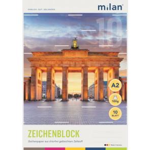 Milan-Zeichenblock DIN A2 10Bl Chlorfrei 56210 100g