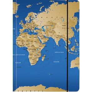 Venceremos Sammelmappe mit Gummizug DIN A4 Motiv Weltkarte