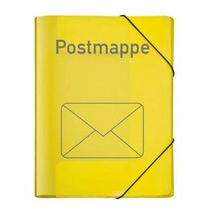 Veloflex Postmappe PP A4 gelb mit Gummizug 4442719
