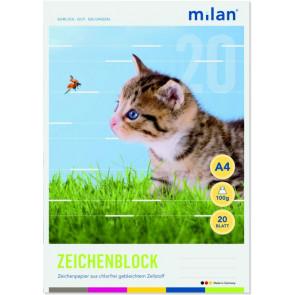 Milan Milan-Zeichenblock A4 20B Chlorfrei Milan 56420
