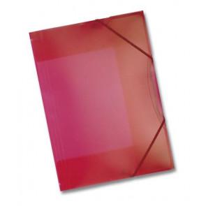 Folia Sammel-Mappe A3 mit Gummi Band Kunststoff rot transparent 6993