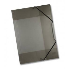 Folia Sammel-Mappe A3 mit Gummi Band Kunststoff anthrazit transparent 6991