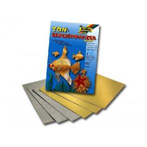 Folia Tonpapier-Block A4 10Bl Gold und Silber 601