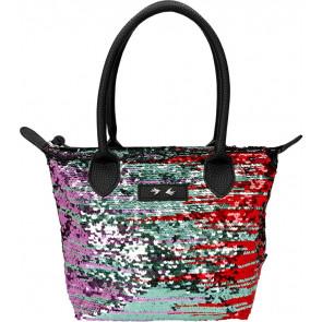 Trend LOVE Handtasche schwarz Pailletten