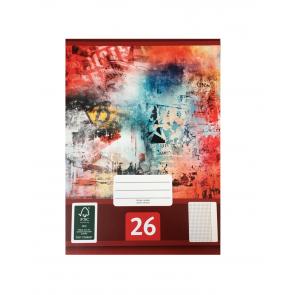 Schulheft A4 Lineatur 26 kariert 5er Set