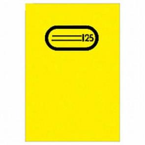 Herma Heftumschlag Transparent A5 Gelb 7481 ohne Namensschild (Heftschoner)