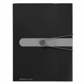 Herlitz Heftbox A4 4cm PP Opak schwarz