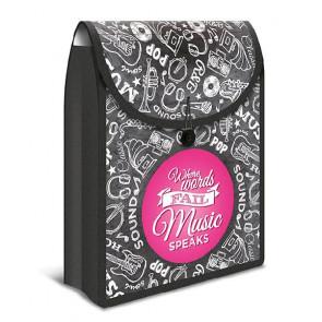 Herma Heftbox A4 Flexibag schwarz Punkt pink 19175 Herma