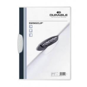 Durable Klemm-Mappe Swingclip A4 30Bl Weiss 2260-02