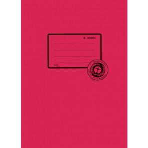 Herma Heftumschlag Papier Recycling A5 dunkelrot 5502 (Heftschoner)