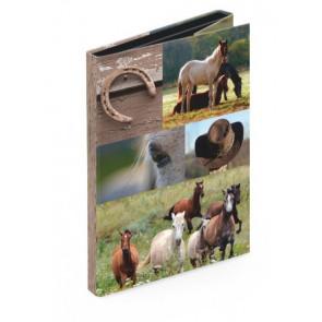 Venceremos Heftbox Klettverschluss DIN A4 Pferde