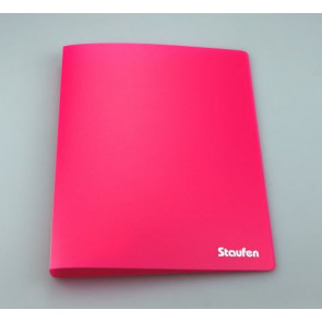Staufen Ringbuch PP A4 2Ring 17mm Opak pink 94722
