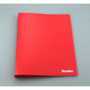 Staufen Ringbuch PP A4 2Ring 17mm Opak rot 94725