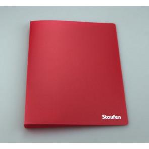 Staufen Ringbuch PP A4 2Ring 17mm Opak bordeaux 94728