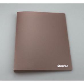 Staufen Ringbuch A4 94775 PP 2Ring 17mm Opak braun