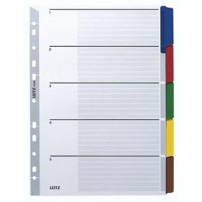 Leitz Ringbuch-Register A4 5-Tl Farbig