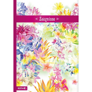 Zeugnismappe DIN A4 Flower Roth 88556