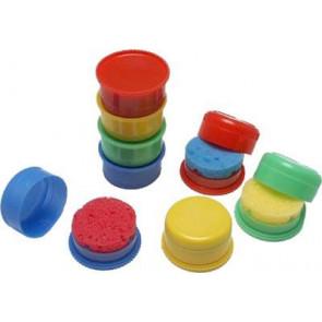 Valoro Schwammdose Plastik mit Schwamm farbig sortiert