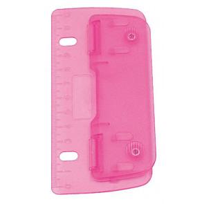 Wedo Taschen-Locher 8cm pink cm-Einteilung