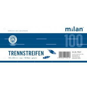 Milan Trennstreifen Milan 100er Pc 190g 240x105mm rosa