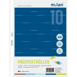 Milan Prospekthülle A4 10er Klar 70My PP Milan803-10 99918240