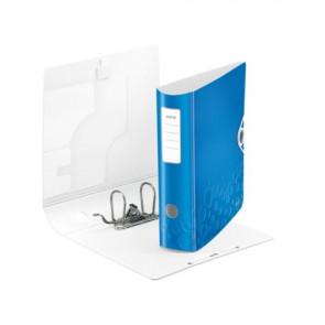 Leitz Active WOW Ordner DIN A4 blau metallic 80mm breit