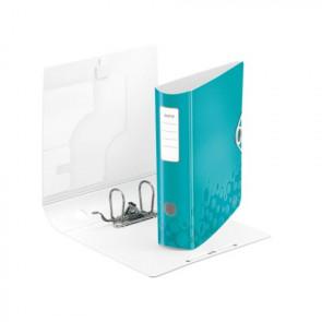 Leitz Active WOW Ordner DIN A4 eisblau metallic 80mm breit