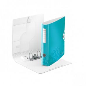 Leitz Active WOW Ordner DIN A4 eisblau metallic 60mm breit