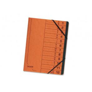 Falken Ordnungsmappe A4 Gummizug Colorspan 12Fächer orange