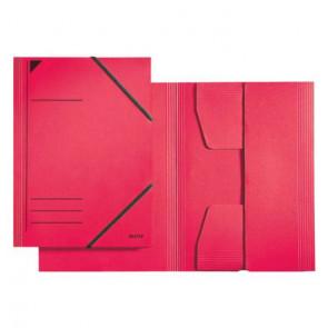 Leitz Sammelmappe Colorspan-Karton rot DIN A4 mit Gummizug