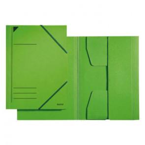 Leitz Sammelmappe Colorspan-Karton grün DIN A4 mit Gummizug