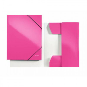 """Leitz Sammelmappe """"WOW"""" DIN A4 pink-metallic mit Gummizug"""