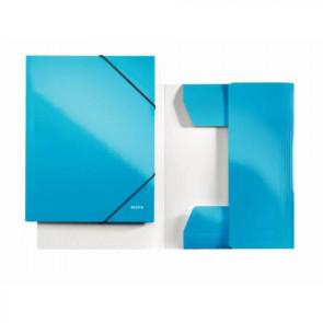 """Leitz Sammelmappe """"WOW"""" DIN A4 blau-metallic mit Gummizug"""