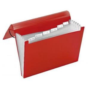 Veloflex Fächermappe 6Fächer Rot 4445220 Veloflex