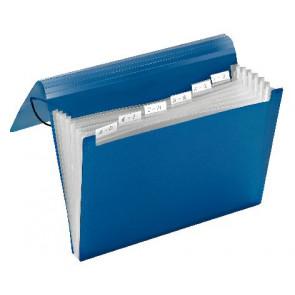 Veloflex Fächermappe 6Fächer Blau 4445250 Veloflex