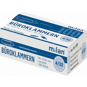 Milan Büroklammer 32mm verzinkt 100 Stück