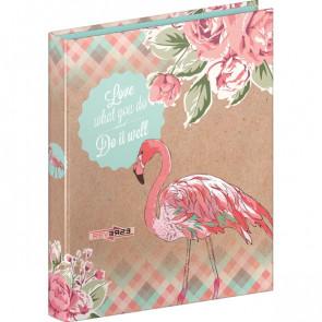 Ringbuch 2 Ringe Reverse Flamingo Brunnen Din A4