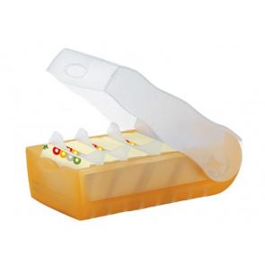 Han Karteikartenbox Croco DIN A7 quer transluzent/orange 997-613