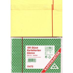 RNK Karteikarten DIN A5 gelb blanco 100St.
