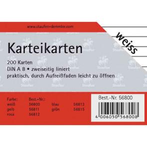 Staufen Karteikarten DIN A8 200 St. liniert weiss 56800