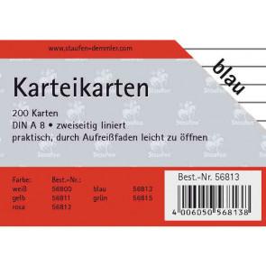 Staufen Karteikarten DIN A8 200 St. liniert grün 56815