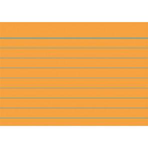 RNK Karteikarten DIN A8 orange liniert 100St.