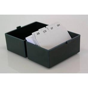 Metzger & Mendle Karteikartenbox DIN A8 mit Register + Karteikarten