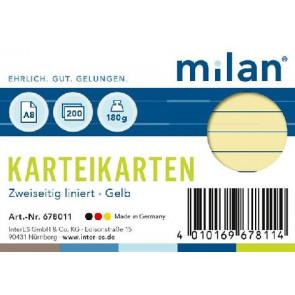RNK Karteikarte DIN A8 Milan gelb liniert 200St.