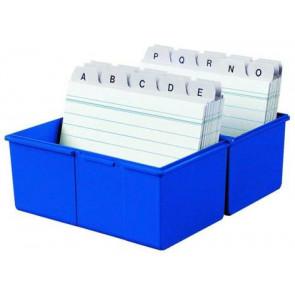 Han Karteikartenbox DIN A6 quer ungefüllt blau 976-14