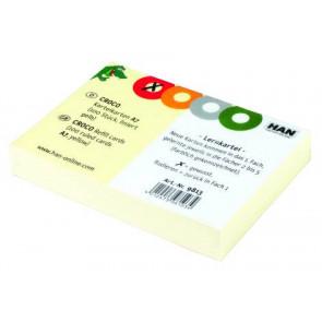 Han Karteikarten DIN A7 100 St. liniert gelb 9813 für Karteikartenbox CROCO